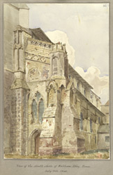 View of the South Aisle of Waltham Abbey, Essex July 11th 1848